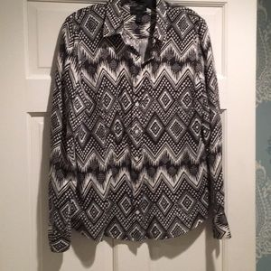 J. Crew Linen Boy Shirt in Diamond Ikat